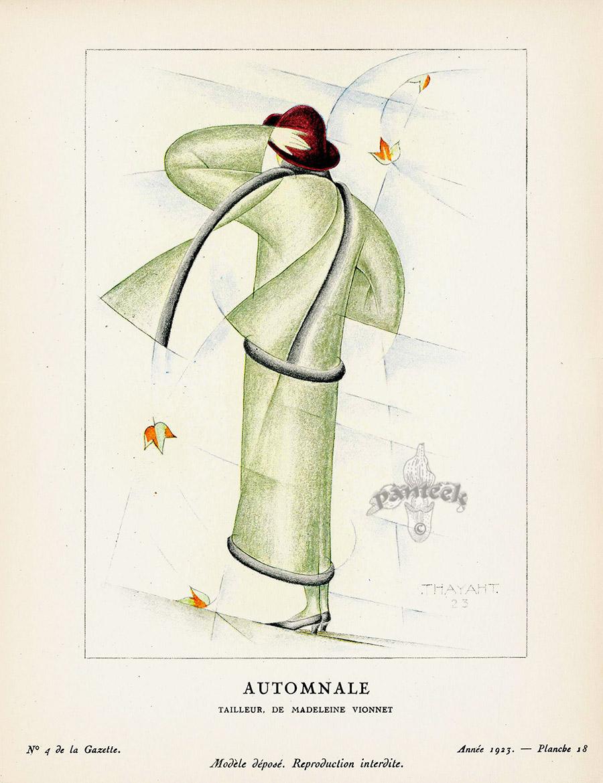 cc2b4466d33 Reverie by Georges LePape from Original Bon Ton gazette prints by George  Barbier 1912-1925
