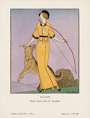 French Bon Ton Art Deco 1920 Fashion Pochoir Prints