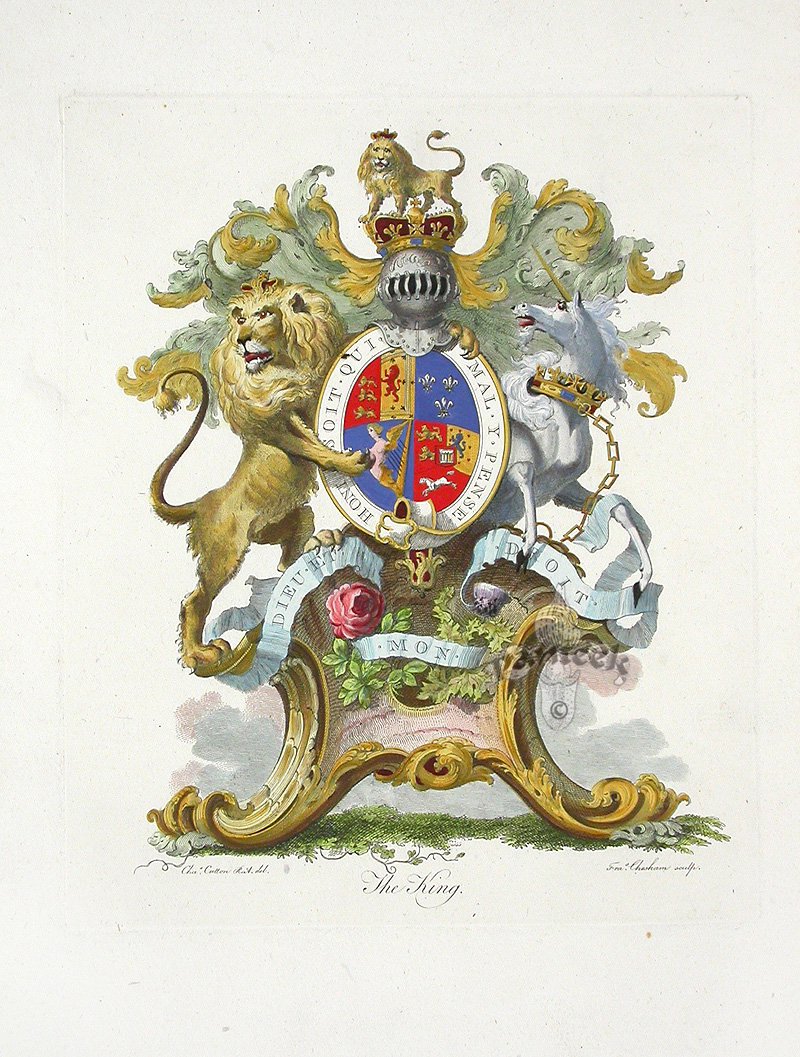 Antique Prints of Heraldic Crests 1790