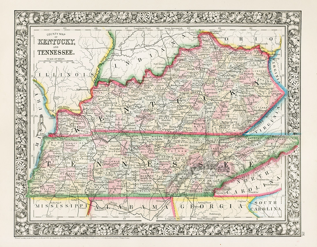 Kentucky Tennessee From World Maps American State Maps From - American state maps