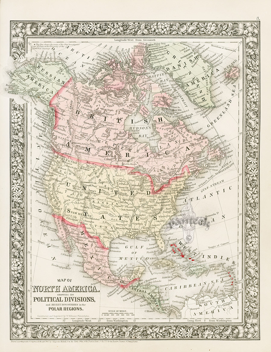North America Political Divisions Russian America British America