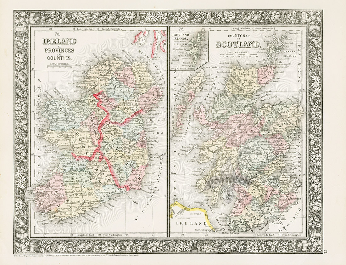Ireland and scotland from world maps american state maps from ireland and scotland from world maps american state maps from mitchells atlas 1865 gumiabroncs Gallery
